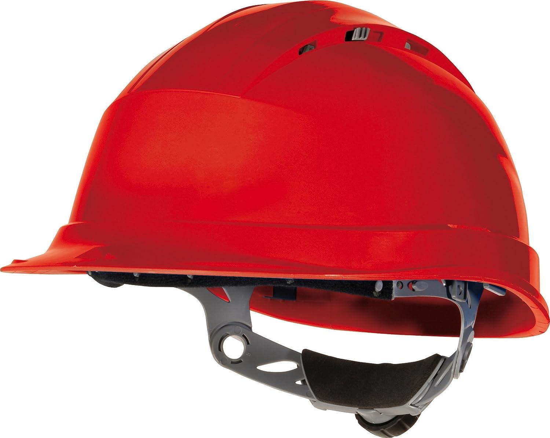 Venitex Quartz IV Ventilated Safety Hard Hat Helmet - Red
