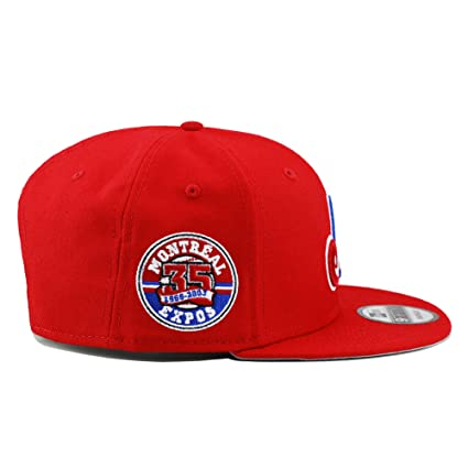best sneakers e3c1c 21203 Amazon.com  New Era 9fifty Montreal Expos Snapback Hat Cap Red 35th  Anniversary Patch  Sports   Outdoors