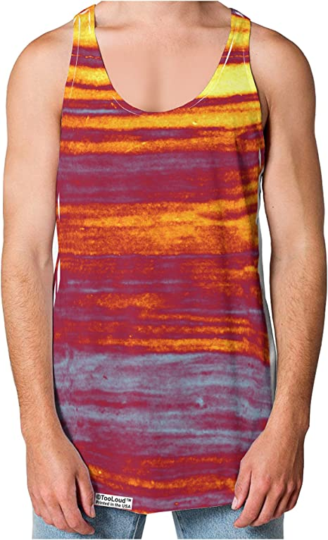 TooLoud Lost at Sea Abstract Loose Tank Top Dual Sided All Over Print