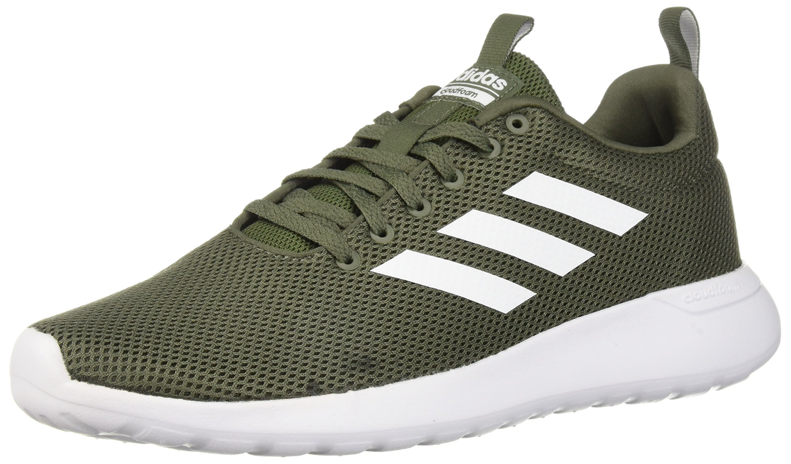 adidas Men's Lite Racer CLN Running Shoe, Base GreenWhiteBlack, 12.5 M US
