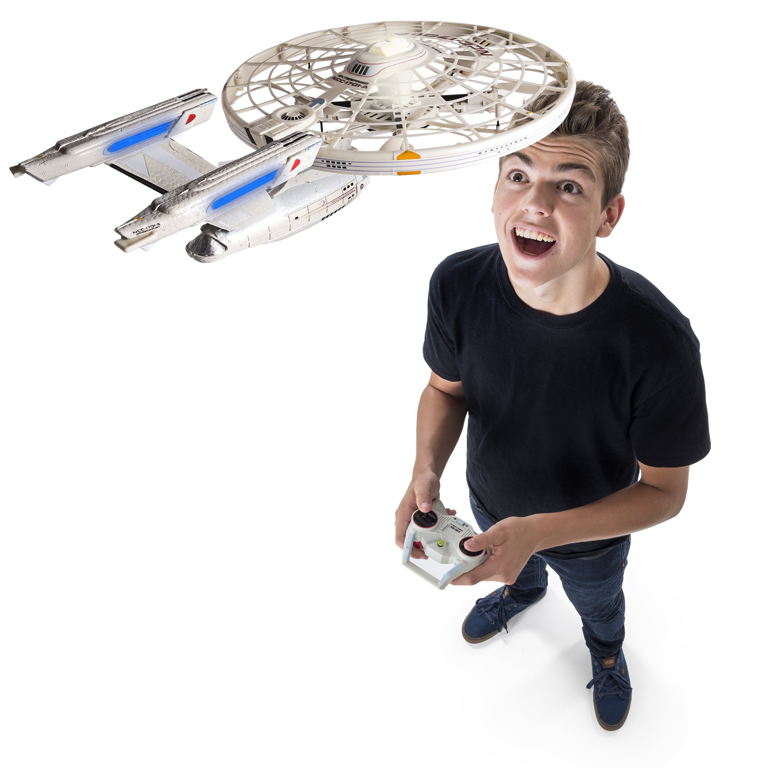 Air Hogs, Star Trek U.S.S Enterprise NCC-1701-A, Remote Control Drone with Lights and Sounds, 2.4 GHZ, 4 Channel by Air Hogs (Image #3)