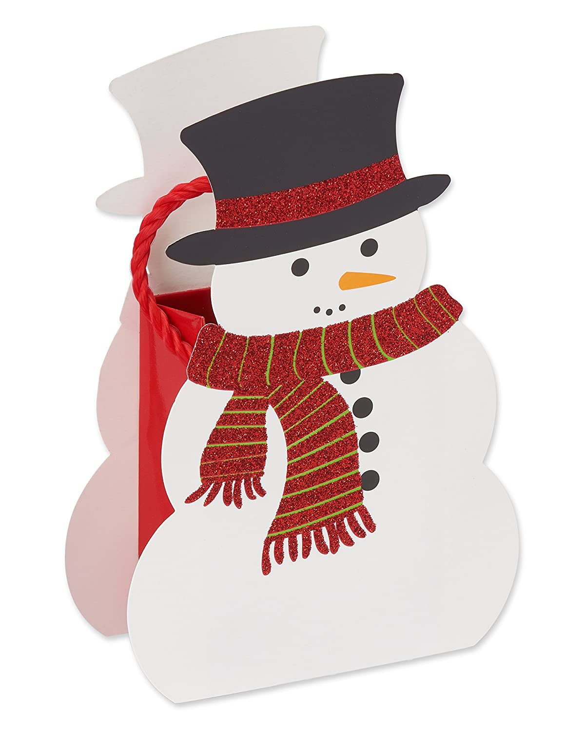 American Greetings 5596049 Holiday Snowman Gift Card Holder, Multicolor