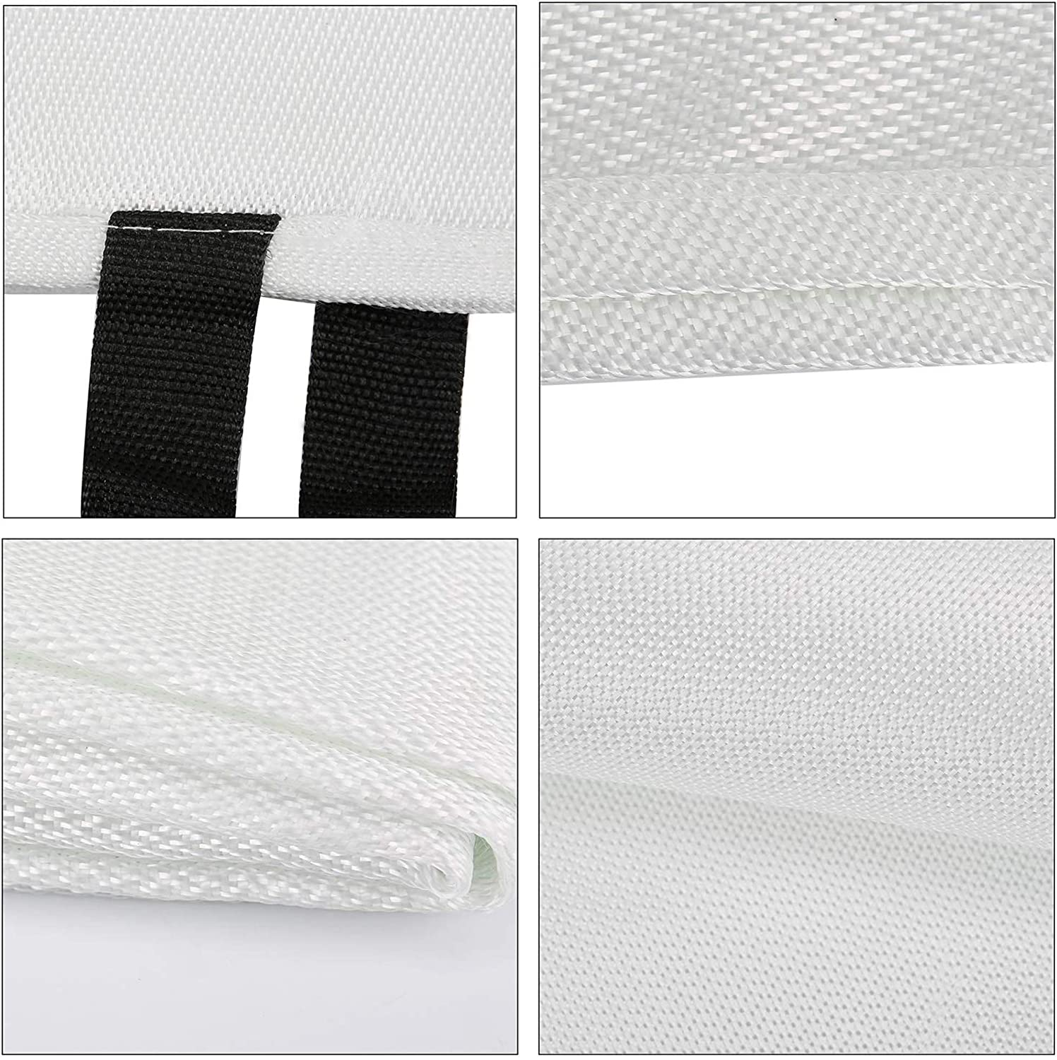 Flame Retardant Protection and Heat Insulation Designed for Kitchen,Fireplace,Grill,Car,Camping TONYKO Emergency Surival Fire Blanket White(10PACK)