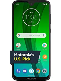 Moto G7 with Alexa Hands-Free – Unlocked – 64 GB – Clear White – Verizon, AT&T, T–Mobile, Sprint, Boost, Cricket, & Metro