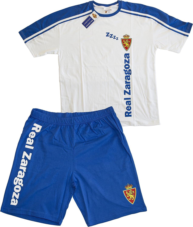 Real Zaragoza Pijzar Pijama Corta, Azul/Blanco, S