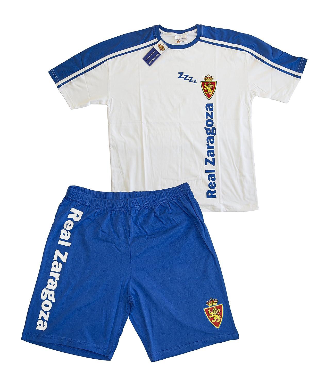 Real Zaragoza Pijzar Pijama Corta, Azul/Blanco, L: Amazon.es: Deportes y aire libre