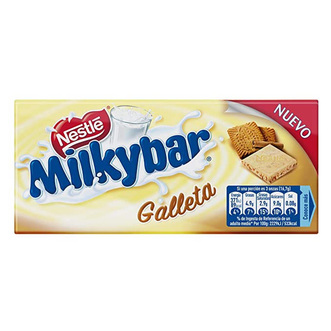 Nestlé Milkybar Chocolate Blanco con Galleta - 100 gr