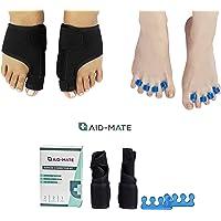 Aid-Mate Bunion Corrector and Bunion Relief Kit | Bunion Splint | Toe Separators | Hammer Toe Straightener | Toe Spacers | Orthopedic Bunion Corrector for Men and Women