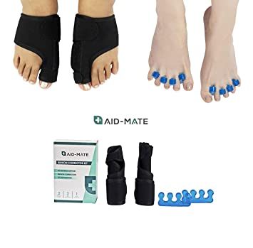 Aid-Mate Bunion Corrector and Bunion Relief Kit | Bunion Splint | Toe Separators |