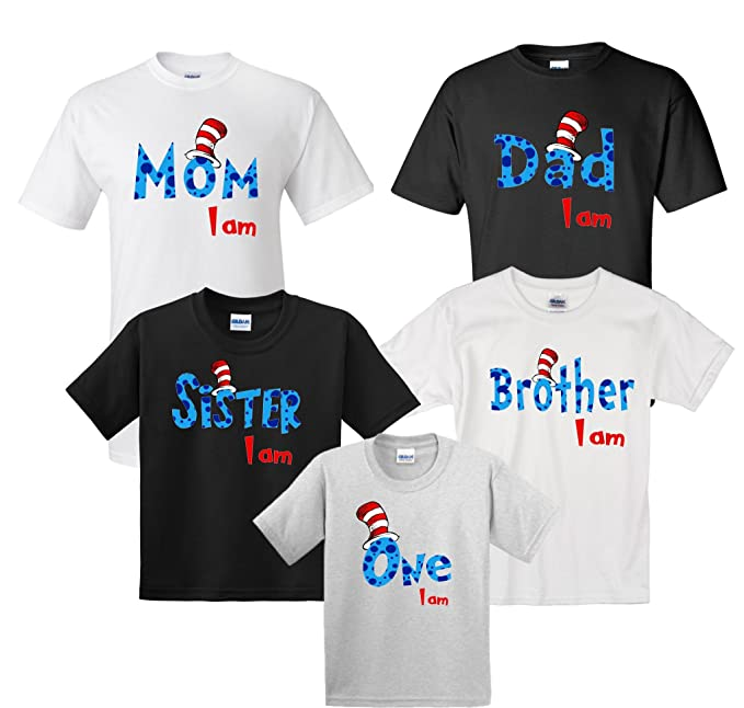 9f2e517a0a1 MATCHING Family Birthday Shirts Cat In The Hat Theme Cute Matching T ...