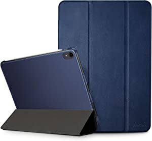 "ProCase iPad Air 4 10.9"" 2020 / iPad Pro 11 2018 1st Gen Case, [Support Apple Pencil Charging] Slim Lightweight Stand Case with Translucent Frosted Back Smart Cover for iPad 10.9 / Pro 11 2018 –Navy"