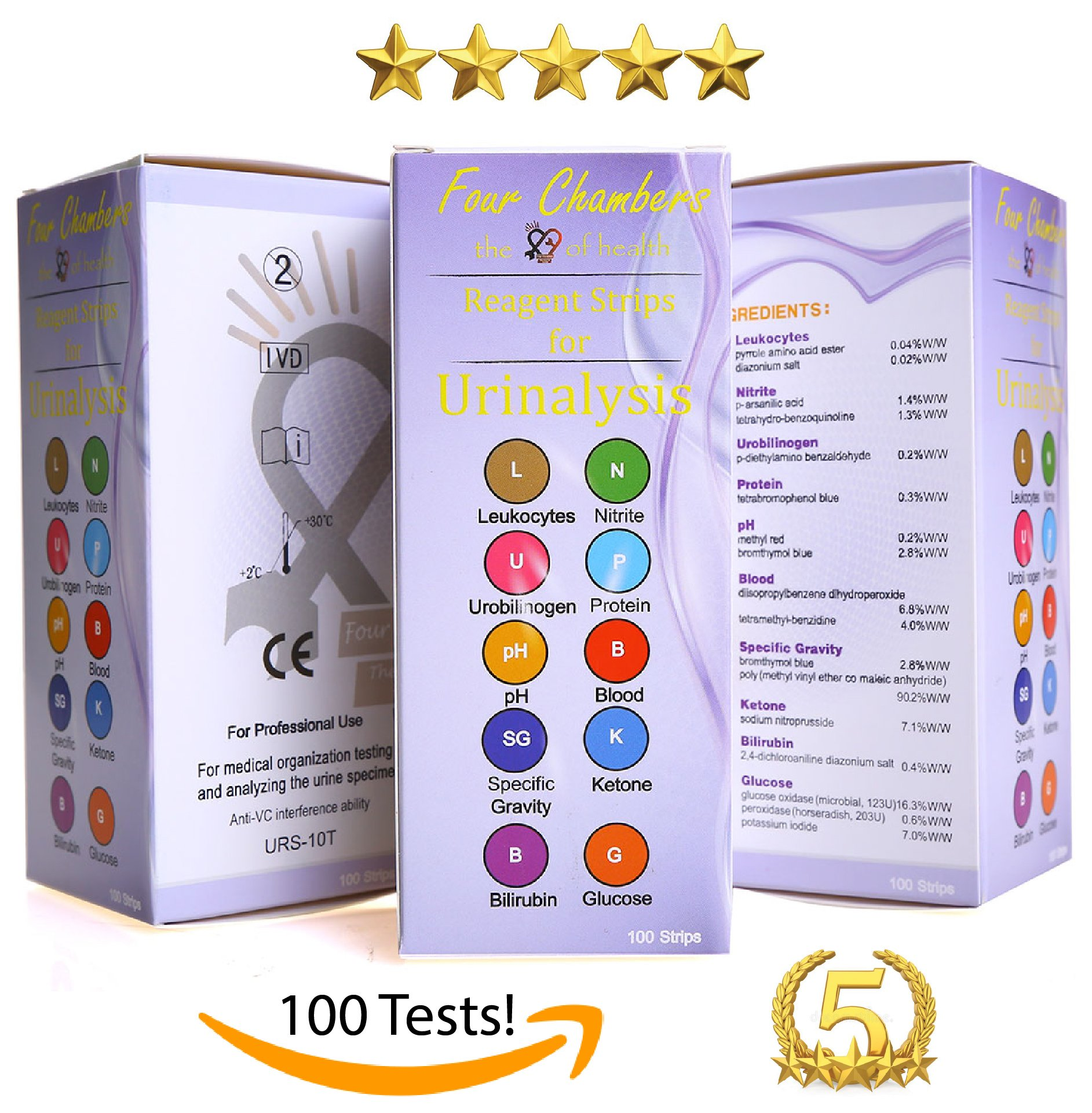Urine Test Strips - Urinalysis Test Strips - Urinary Tract Infection Strips  (UTI): MEGA Pack (100 Tests) - Easy - Instant Results! on Galleon  Philippines