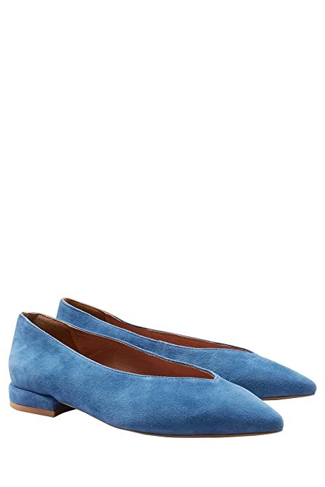 Next Mujer Mocasines Empeine Alto Ante Azul EU 43: Amazon.es: Zapatos y complementos