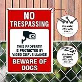 Beware of Dog Sign, No Trespassing Sign, Video