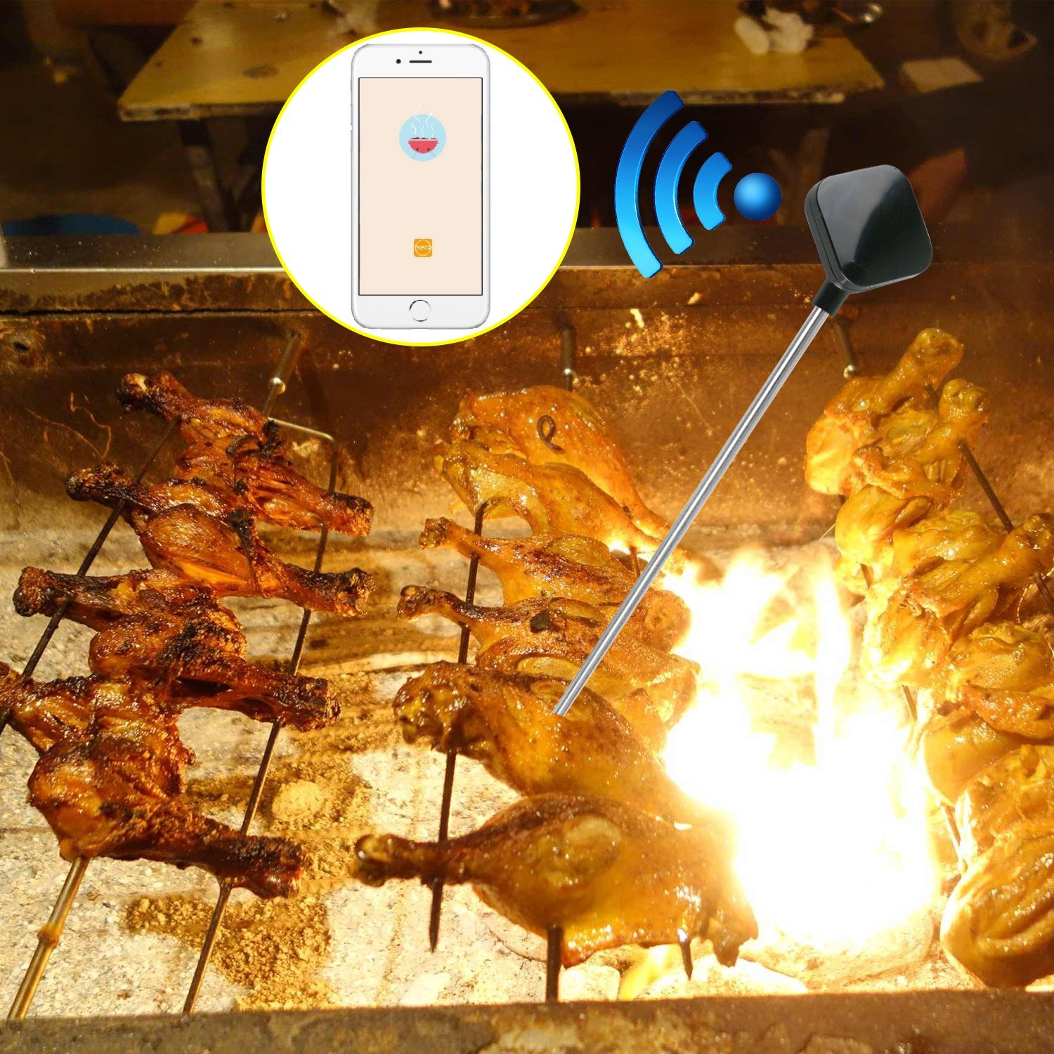amazon com extsud wireless bluetooth 4 0 cooking meat