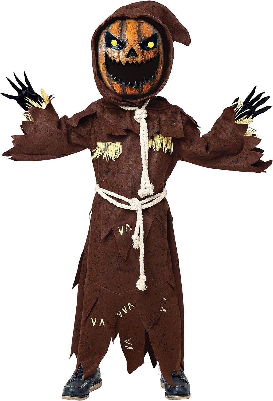 Spooktacular Creations Disfraz de espantapájaros de Calabaza con ...