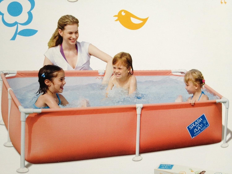 Bestway 56218 - Planschbecken My First Frame Pool Stahlrohr, circa 162 x 162 x 35.5 cm, farbig sortiert