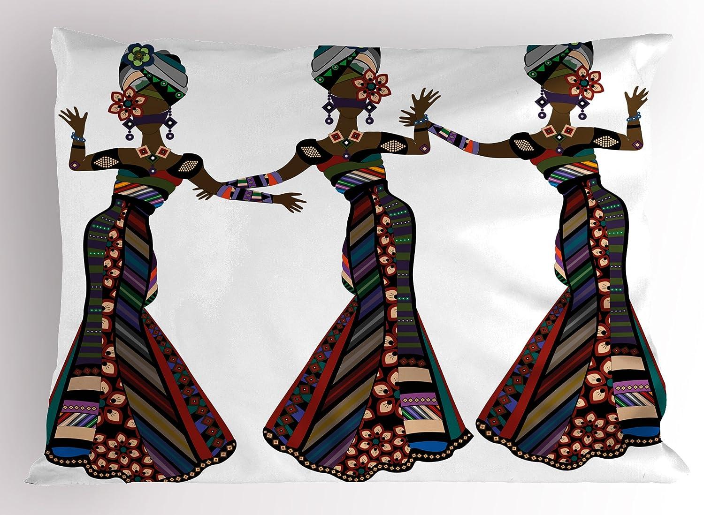 Mujer africana almohada Sham por Ambesonne, mujeres jóvenes en ...