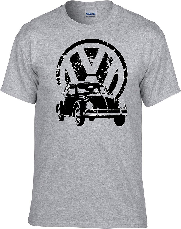 VW Volkswagen K/äfer Auto Grau Gris T-Shirt 379