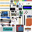 Freenove Ultimate Starter Kit with Board V4 (Compatible with Arduino IDE) (Blue Board), 273 Pages Detailed Tutorial, 217 Items, 51 Projects, Learn Programming and Electronics