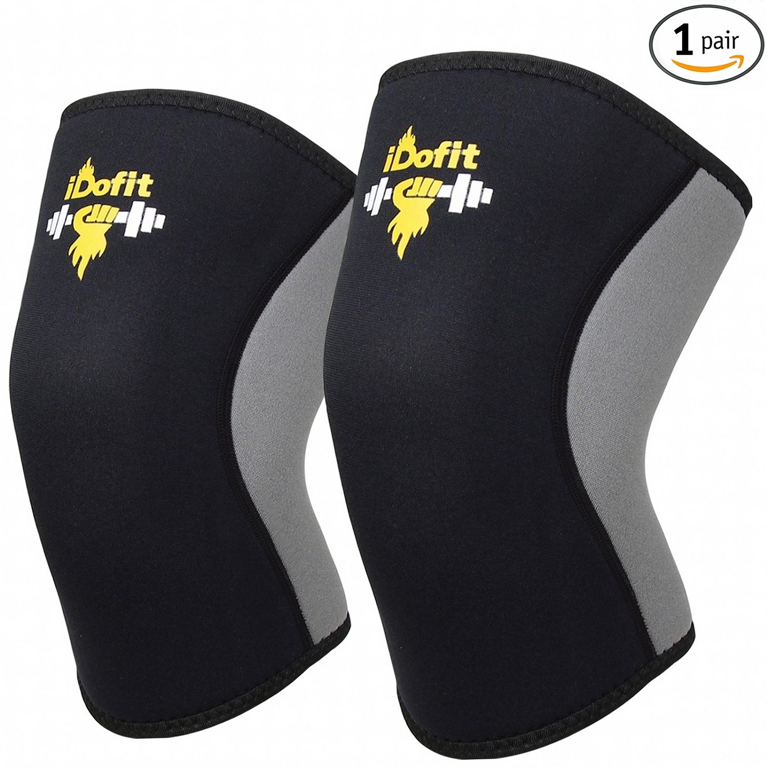 #3. iDofit Knee Sleeves Support & Compression for Weightlifting, Powerlifting