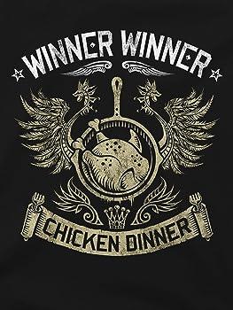 bef08bf22c48 Amazon.com: JINX PUBG Winner Chicken Dinner Men's Tee Shirt, Black ...