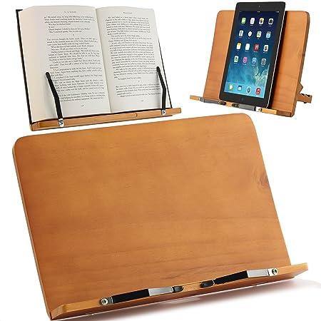 Atril para Libros y Soporte de Tablets | Diseñado para Sujetar ...
