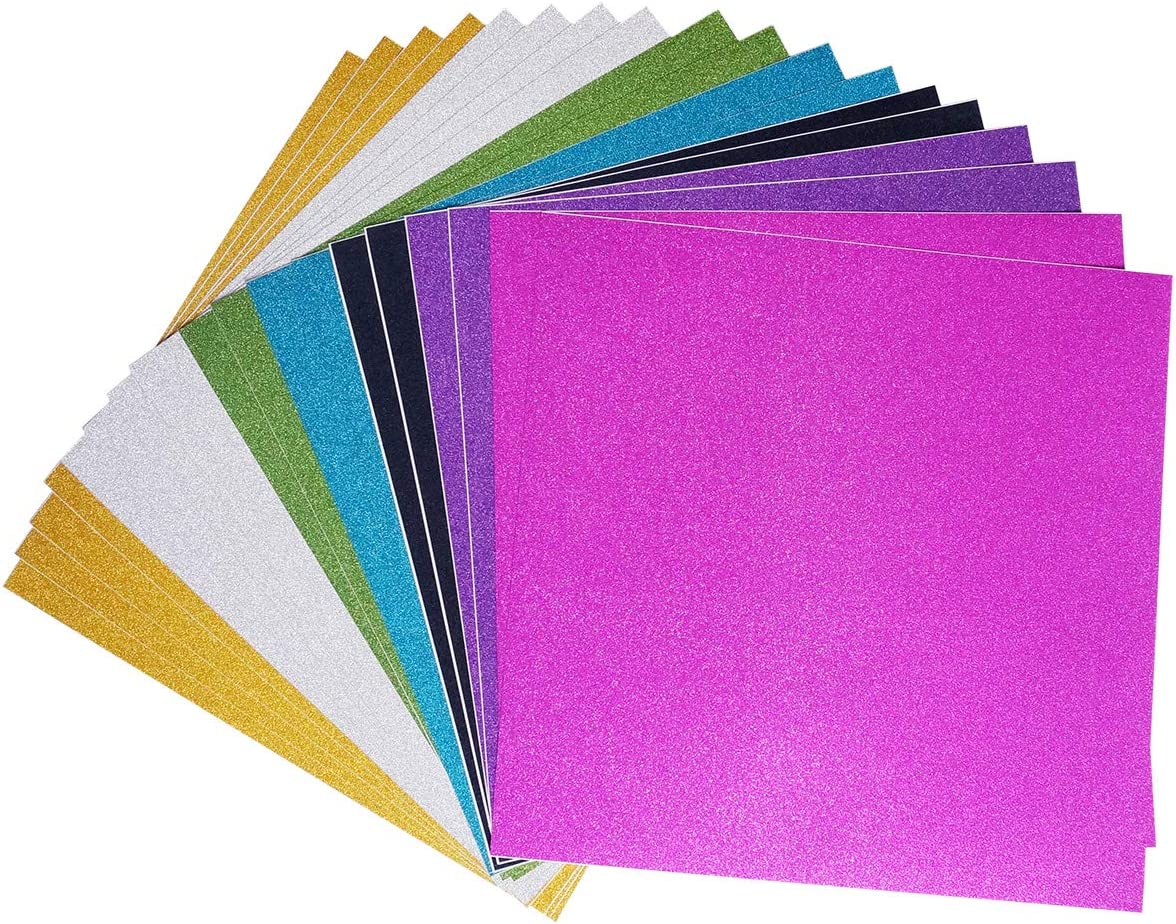 Adhesive Sheets 10 Mixed Color Misscrafts 10 Sheets 12 x 12 Adhesive Glitter Paper Sticker DIY Craft Sign Sparkling Sticker Metallic Colors