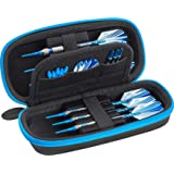 Casemaster Sentry Dart Case Slim EVA Shell for Steel and Soft Tip Darts, Hold 6 Darts and Features Built-in Storage for Fligh