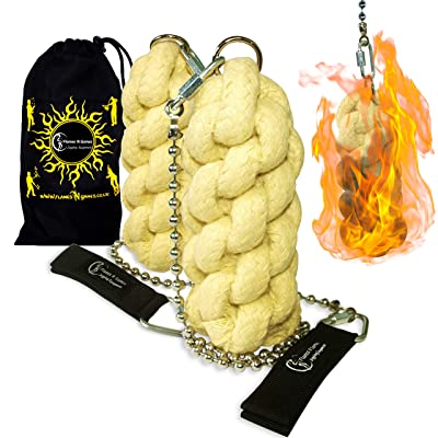 Flames N Games ORION - Pro Fire Poi set + Flames 'N Games Travel Bag