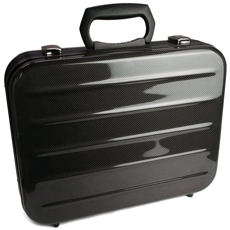 ビジネスバッグ/カーボンファイバー製アタッシュケースB4サイズ【CARFIBE】 軽量 頑丈 B005ZDRQV8内装ブラック
