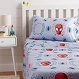 Amazon Basics by Marvel Spiderman Spidey Crawl Bed Sheet Set, Twin