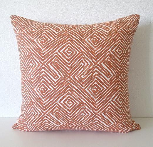Amazon Nate Berkus Patras Chili Orange Global Ethnic Decorative Classy Nate Berkus Decorative Pillows