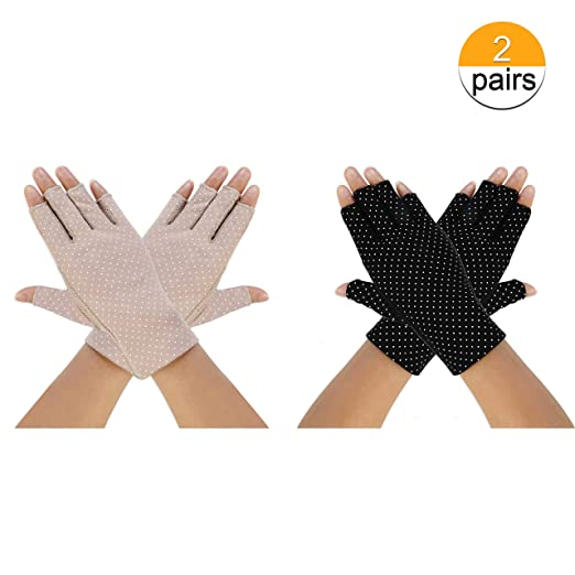 40d6f94e47aba Women Sunscreen Gloves UV Protection Sunblock Gloves for Girl Lady Summer  Driving Cycling Fishing Golfing Outdoor