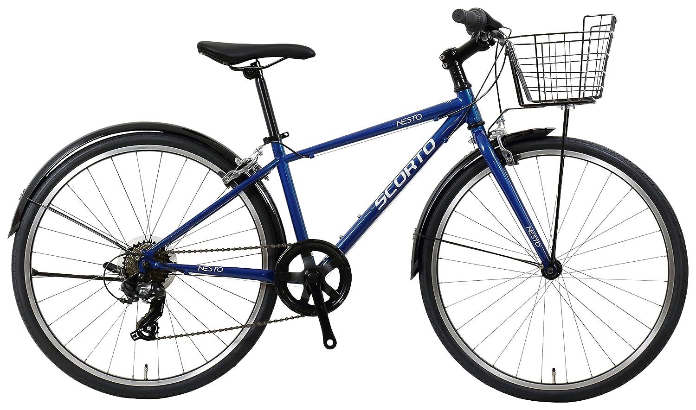 NESTO(ネスト) 【完全組立】24型スコルトJr-K 外装7段 ジュニアクロスバイク 340mm ブルー NE-18-008   B07F26FGFV