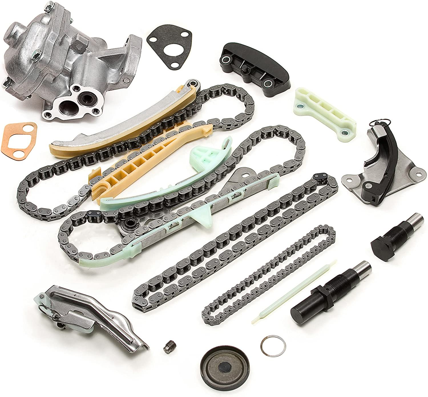 without Gears and Oil Pump Evergreen TK20700NGOP Compatible With Ford Explorer Ranger Mazda Mercury 4.0L SOHC Timing Chain Kit