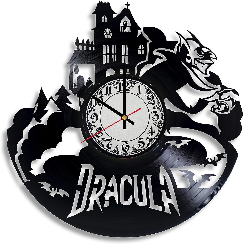 Lepri4ok Halloween Vampire Vinyl Wall Clock, Gothic Gifts for him, Dracula Gift, Gothic Kitchen Decor, Gothic Wall Art, Dracula 1931
