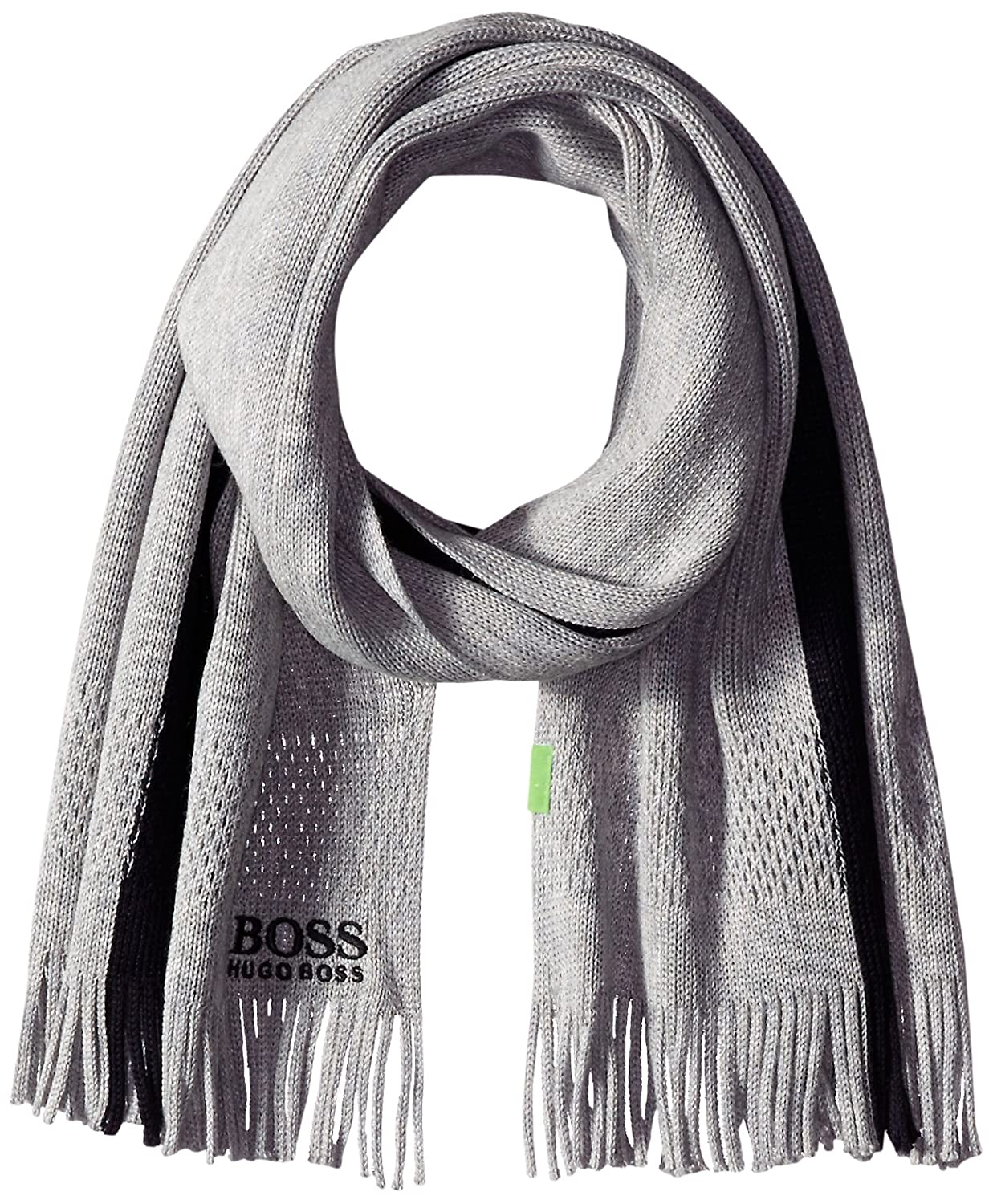 BOSS Green Men's Knitter Scarf Grey One Size 50295043