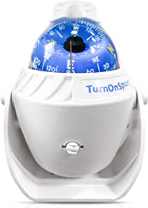 TurnOnSport Boat Compass Dash Mount Flush - Boating Compass Dashboard Suction - Navigation Marine Compass Boats Surface Mount - Illuminated Dashboard Compass Ship - Electronic Sea Compass Suction Cup