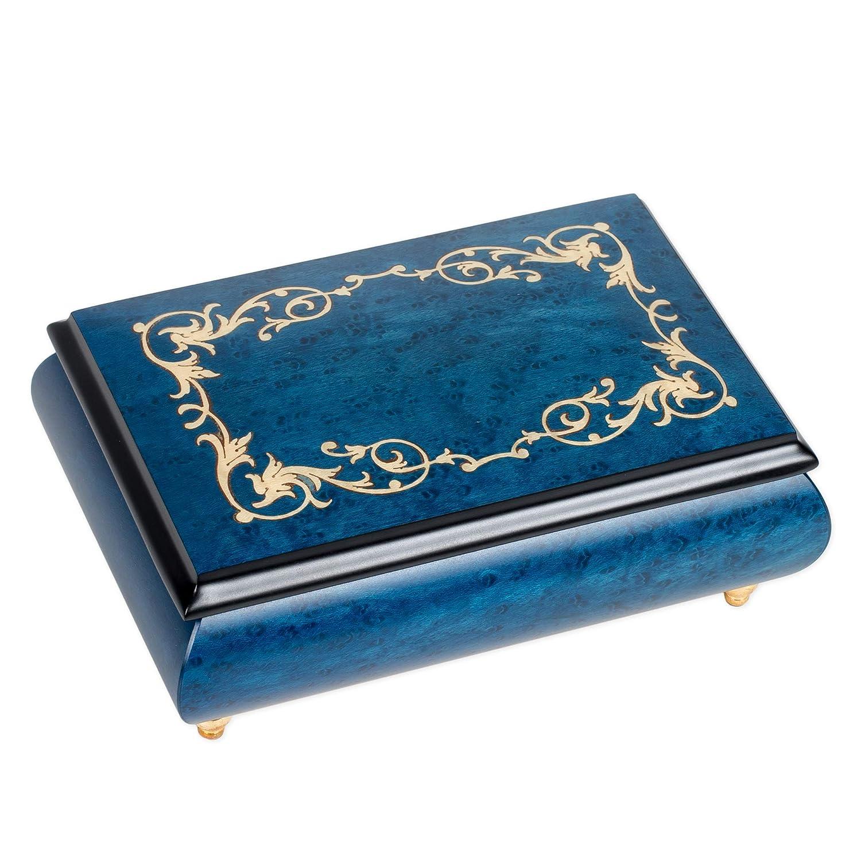 熱販売 フィリグリー フィリグリー ダークブルー 青いドナウワルツ イタリア製 ハンドクラフト 象嵌 木製ジュエリーオルゴール 青いドナウワルツ 象嵌 B01FT7O0H2, はなくら鞄バッグ財布専門店:3bd19312 --- arcego.dominiotemporario.com