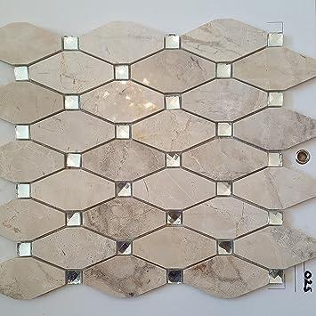 Mosaik Fliesen 38 X 31 Cm Marmorfliese Beige Creme Viktorianischen Kette  Küche Badezimmer Wand 8mm 025