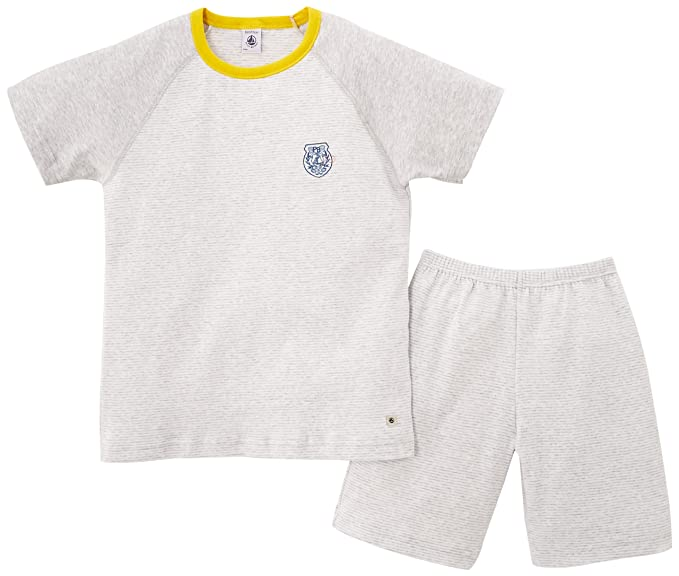 Petit Bateau - Pijama con cuello barco para niño, talla FR: 4 ans (