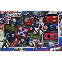 546 Toys avengers Cars Set For Unisex, Multi Color