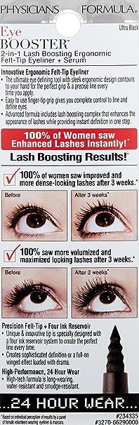 0c12e623f6a Amazon.com: Physicians Formula Eye Booster 2-in-1 Lash Boosting Cushion  Eyeliner Plus Serum: Beauty