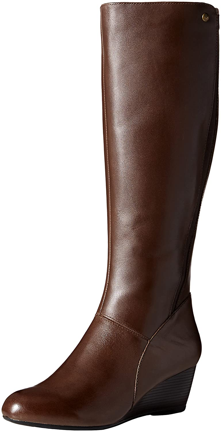 Hush Puppies Women's Pynical Rhea Boot B01BGQJ502 6.5 W US|Dark Brown Leather