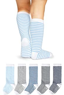 188f577f1 LA Active Knee High Grip Socks – 5 Pairs - Baby Toddler Non Slip Skid