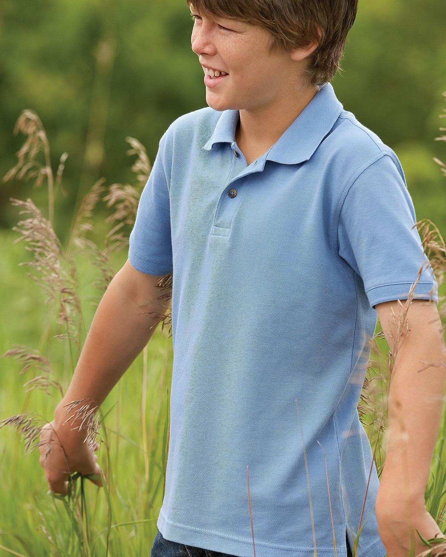 Harriton Boys Short-sleeve Pique Polo Shirt