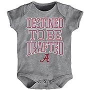 NCAA by Outerstuff NCAA Alabama Crimson Tide Newborn & Infant  Destined  Short Sleeve Bodysuit, Heather Grey, 24 Months