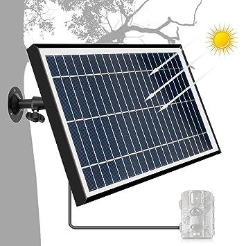 ARTITAN Panel Solar 12V 5W Camara Caza Paneles Solares con Marco de ...