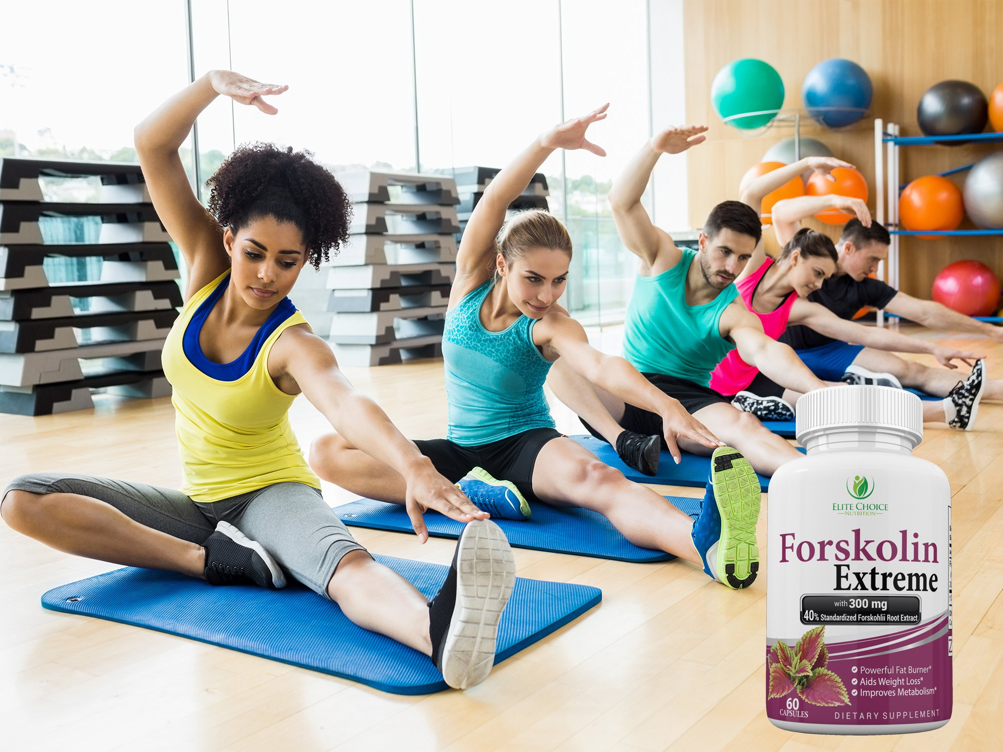 Forskolin EXTREME Supplemeny – Premium Extract 100% Pure STRONGEST - Weight Loss Pill 40% Standardized - up to 2 Month Supply - Best Fat Burner Appetite Suppressant Supplement & Metabolism Booster - N